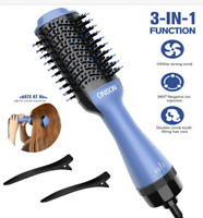 Hot Air Hair Dryer Negative Ion Volumizer Blow Dryer Brush Styling Straight Curl