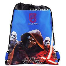 Disney Star Wars Blue Drawstring Bag School Backpack