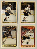 🏒HOF Ray Bourque 4-CARD TIFFANY LOT, 1990-91 Bowman #31 (2) + Topps #196 + #43
