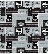 LOS ANGELES KINGS NHL HOCKEY 100% COTTON FABRIC MATERIAL CRAFTS BY THE 1/2 YARD