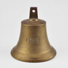 schwere große alte Schiffsglocke aus Messing - Messingglocke - 1839 - Brass Bell