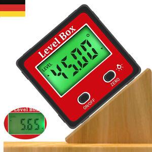 360° Magnet Digital Winkelmesser LCD Winkelmessgerät Neigungsmesser Inklinometer
