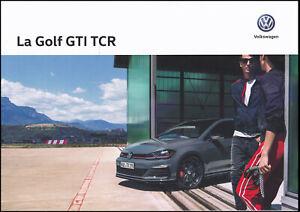 brochure dépliant 2019 VOLKSWAGEN GOLF GTI TCR !!! ____ 290ch _____en français__