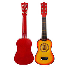 "21"" Children's Orange Acoustic Guitar gift children 6 String Kids Music Toys"