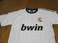 REAL MADRID FC FOOTBALL CLUB 110 YEARS 2012 SEWN REPLICA JERSEY- YOUTH LG SOCCER