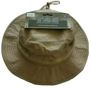 KHAKI BOONIE HAT 100% COTTON WITH DOUBLE LAYER BRIM AND VENTS SMALL TO XXLARGE