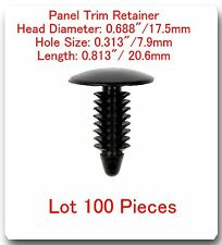100 Pc Panel Trim Retainer Head 17.5mm Hole 7.9mm L:20.6mm Fits: Ford 388577S