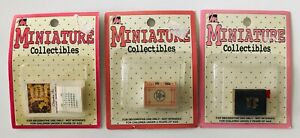 3 Dollhouse Miniature Collectibles Holy Bible Dictionary Chrysnbon Calendar New