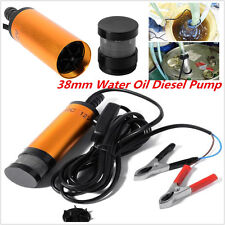 12V Submersible Pump 38mm Water Oil Diesel Fuel Transfer Refueling Detachable