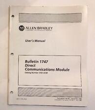 Allen Bradley User's Manual Bulletin 1747 Direct Communications Module