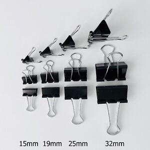 Foldback-Klammern versch. Größen u. Mengen Aktenklammern Clip Vielzweck Klammern