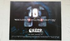 *UK QUAD* CREEP MOVIE POSTER ROLLED UNUSED BANNED FROM ADVERTISING
