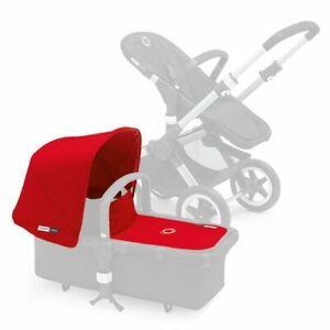 Bugaboo Buffalo Baby Pram Stroller Tailored Fabric Set Extendable Sun Canopy RED