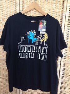 """Sesame Street COOKIE MONSTER XXL T-Shirt Top Monster Night Out BNWT Burton 50"""""""