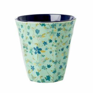 RICE DK Melamine Cup Medium Blue Floral Print