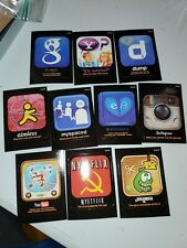 2013 WACKY PACKAGES SERIES 10 AWFUL APPS SET 10/10 STICKER CARDS GOOGLE NETFLIX