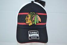 Chicago Blackhawks Logo NHL Authentic Pro Fanatics Snapback Hat  Mesh Back Cap