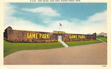 C79/ Pigeon Forge Tennessee Tn Postcard Linen Fort Weare Game Park Stadium?