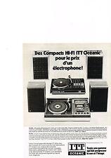 PUBLICITE  1978   ITT OCEANIC   HI-FI compacts