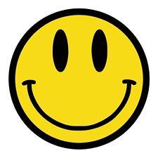 Smiley Face Hard Hat Decal / Label / Helmet Sticker Hippie 60s 70s Woodstock