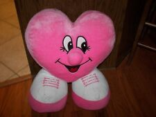 Pink Plush Heart Wearing Sneakers - 2 Feet Tall