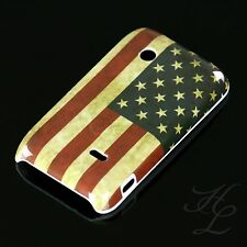 Sony Ericsson ST21i Xperia Tipo Hard Case Hülle Etui Cover Vintage Flag Amerika