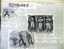 1900 newspaper w photos o CALIFORNIA BASEBALL players San Francisco & Sacramento