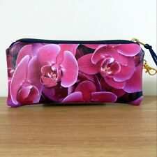 Glasses Case Pouch Faux Leather Pink Handmade Flat Travel Bag Ladies Sunglasses