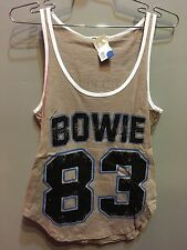 New Junk Food Solid Brown Two Sided Bowie Graphic 83 Tour Size XS