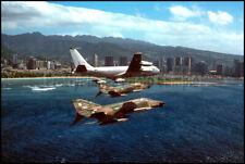 Hawaii ANG F-4 Phantom 199th TFS KC-135 161st ARG 1979 8x12 Photo