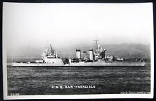 **1930's BATTLE SHIP  U. S. S. SAN FRANCISCO  RPPC