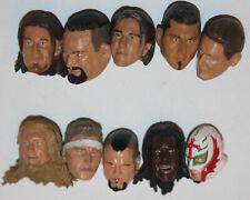 Lot of 10 WWE Action Figure Heads For Customs USED Wrestling Jakks Custom #14
