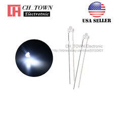 100pcs 18mm Diffused White Color White Light Led Diodes Dip High Quality Usa