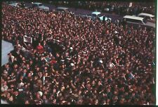 Beatles Press Photo Color Transparency #401-Beatlemania Crowd-Adelaide-1964-ESTX