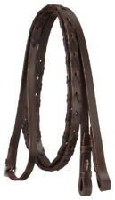 Leather Laced Reins - Full Size - Brown - NEW - IMP USA