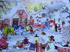 """New 500 Piece Tuula Burger Art Puzzle """"Frosty Quilts"""" 18""""x24"""""""