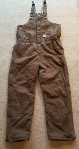 Berne Insulated Brown Bib Overalls Youth XL (18-20)