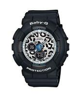 Casio Baby-G BA-120LP-1A Leopard Design Analog Digital Black Resin Ladies Watch