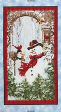 "23"" Fabric Panel - Timeless Treasures Christmas Country Snowman Wallhanging"