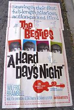 Beatles A HARD DAY'S NIGHT 3 Sheet Movie Poster, 1964