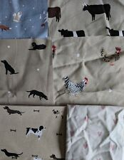 Sophie Allport Fabric Offcuts Remnants Bundle Chicken Stag Lab Woof Cat Pheasant