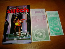 LORD DAVID SUTCH-LIFE AS SUTCH-SIGNED-1ST-+ LOONY BANKNOTES-VG/NF-1991-HB-V RARE