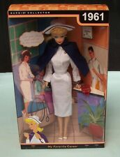 My Favorite Career Barbie Nurse  R4472 1961 Reproduction Mattel c 2009 Boxed