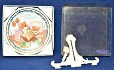 """Nib 1991 Enesco Porcelain Get Well Wish for You Gifted Greeting 4 1/4""""d Plate"""