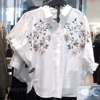 ZARA NEW F/W 2016. WHITE OVERSIZED FLORAL EMBROIDERED SHIRT. REF 0881/301.
