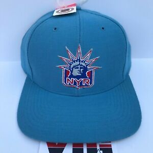NWT Vintage 90's NEW YORK RANGERS Twins Snapback Hat RARE Statue Of Liberty