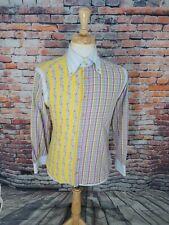 Etro ITALY Men Long Sleeve Multi-Color Linen Cotton Button Up Casual Shirt 39