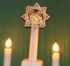 10x Set Aufstecksterne Stern Schwibbogen Lichterbogen Riffelkerze Christi Geburt