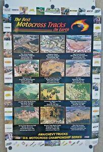 Vintage Poster 2001 AMA Motocross Best Tracks On Earth Unadilla Glen Helen MX338