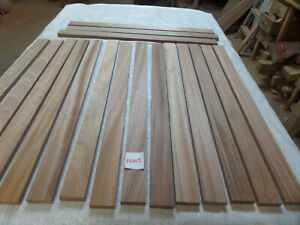 Sapele hardwood timber 17 @ 85cm x 15mm x 15mm (16003R3) bench slats trim